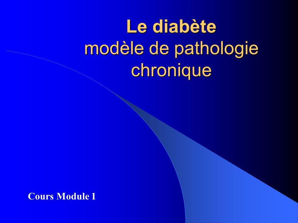 Le diabète modèle de pathologie chronique