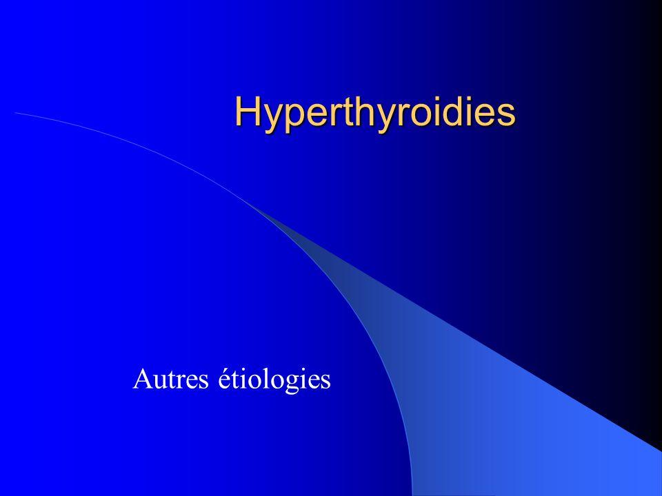 Hyperthyroidies Autres étiologies