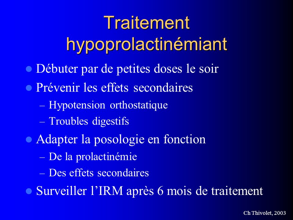 Traitement hypoprolactinémiant