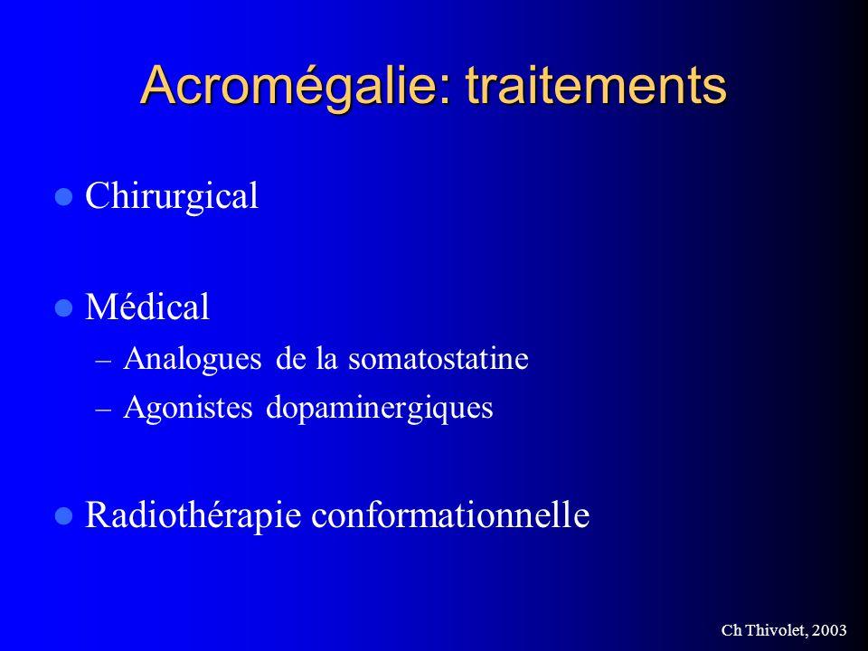 Acromégalie: traitements