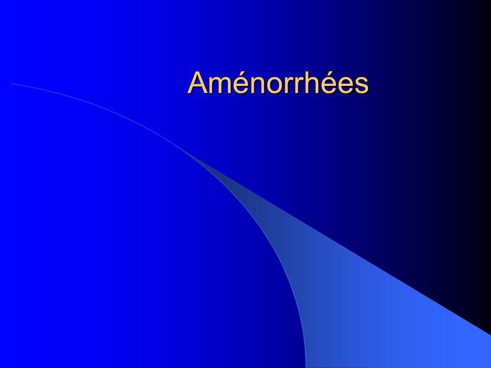 Aménorrhées