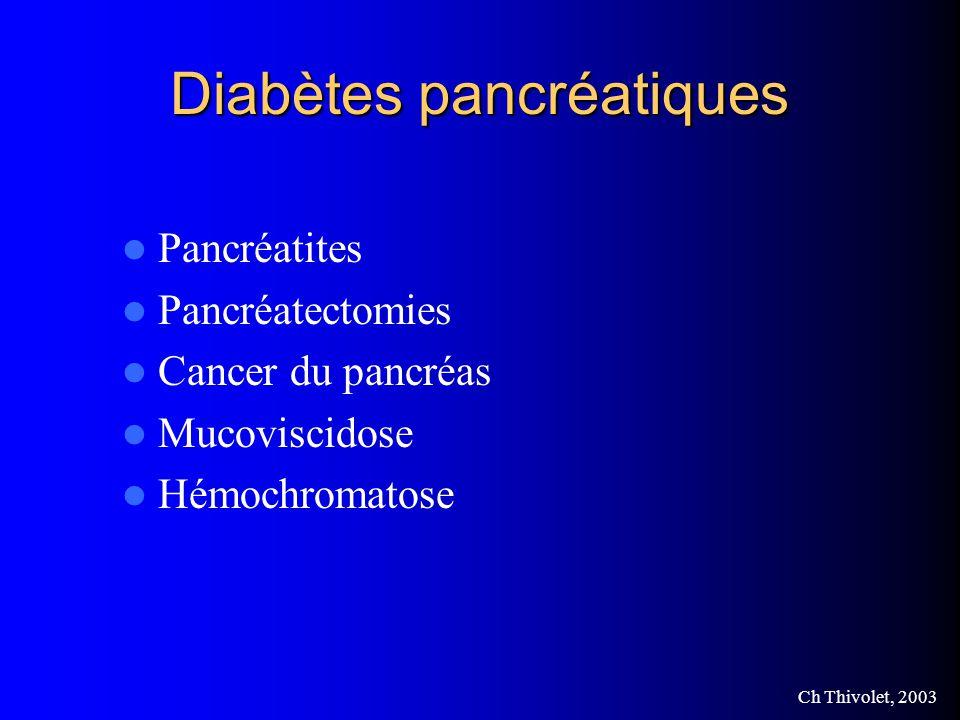 Diabètes pancréatiques