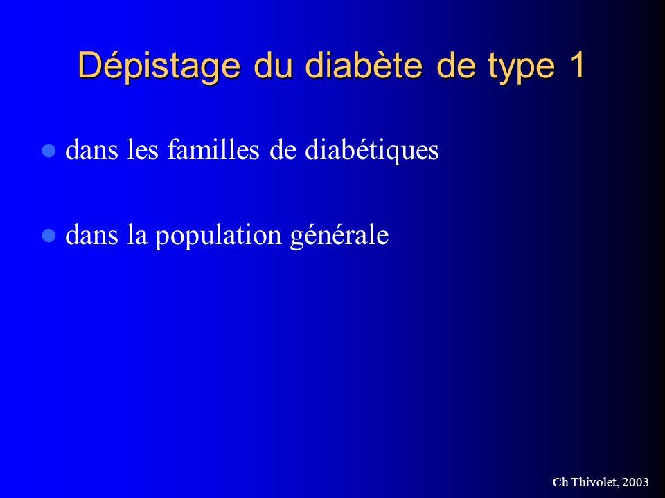 Dépistage du diabète de type 1
