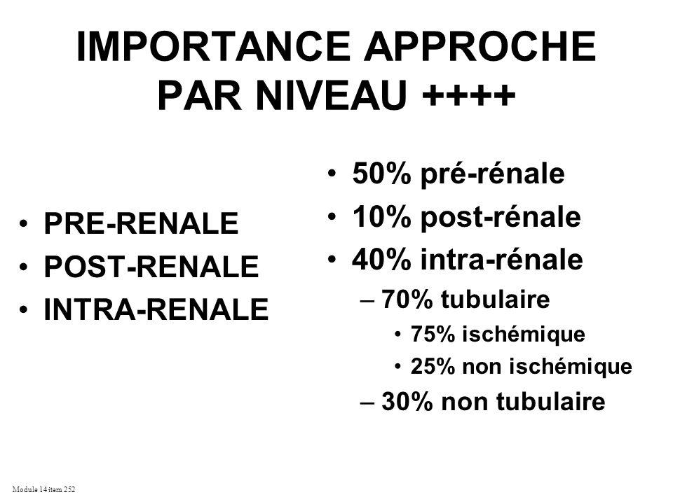 IMPORTANCE APPROCHE PAR NIVEAU ++++