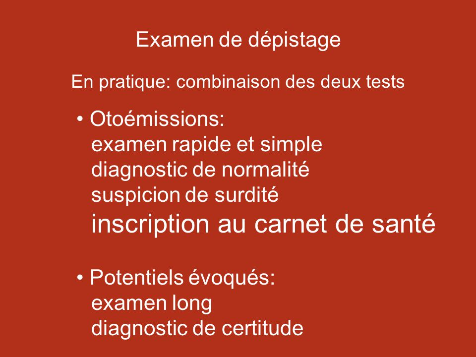 Potentiels évoqués: examen long diagnostic de certitude