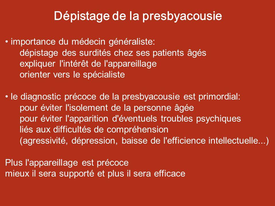 Dépistage de la presbyacousie