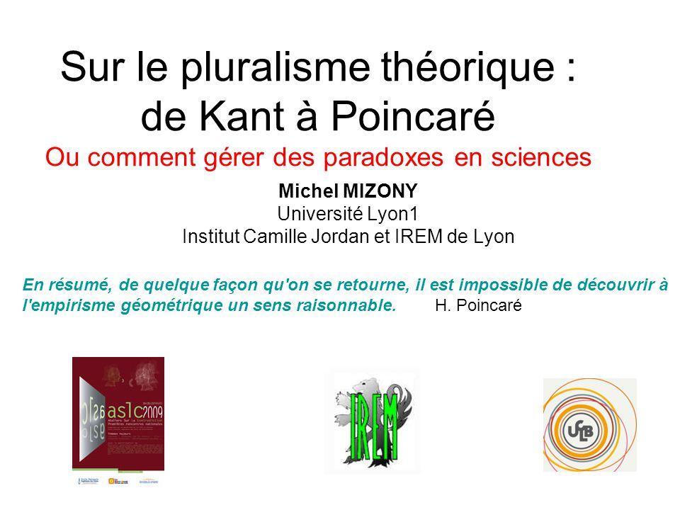 Michel MIZONY Université Lyon1 Institut Camille Jordan et IREM de Lyon