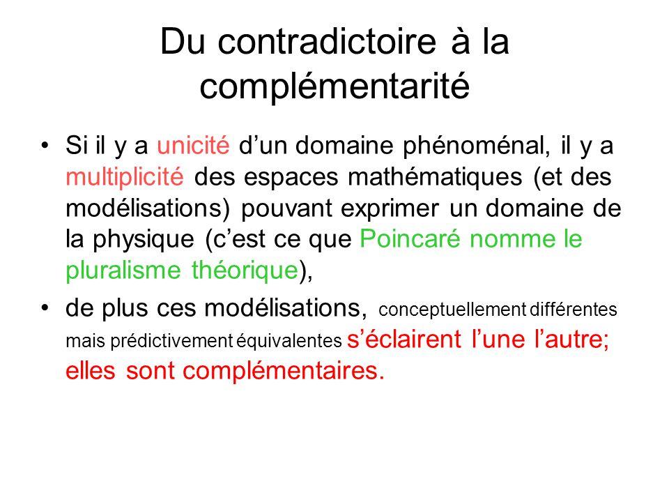 Du contradictoire à la complémentarité