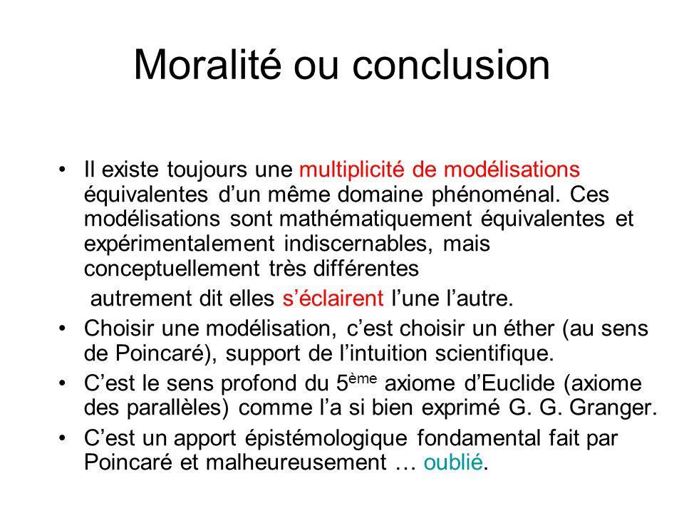 Moralité ou conclusion