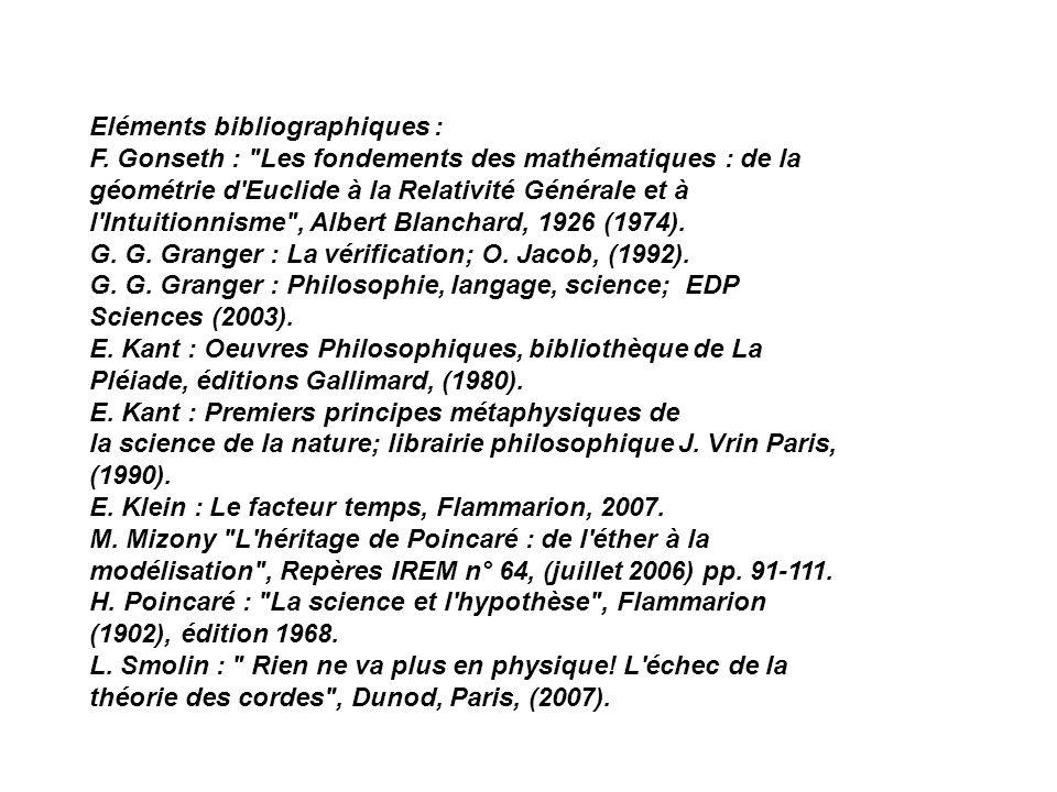 Eléments bibliographiques :