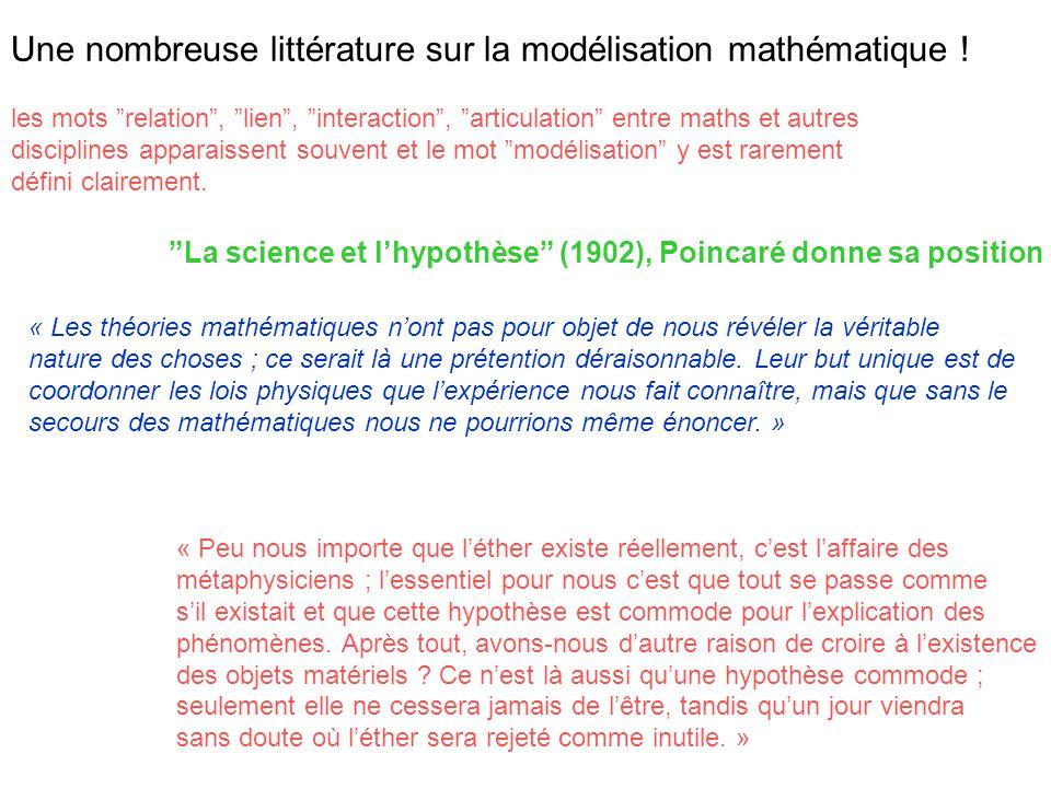 Une nombreuse littérature sur la modélisation mathématique !
