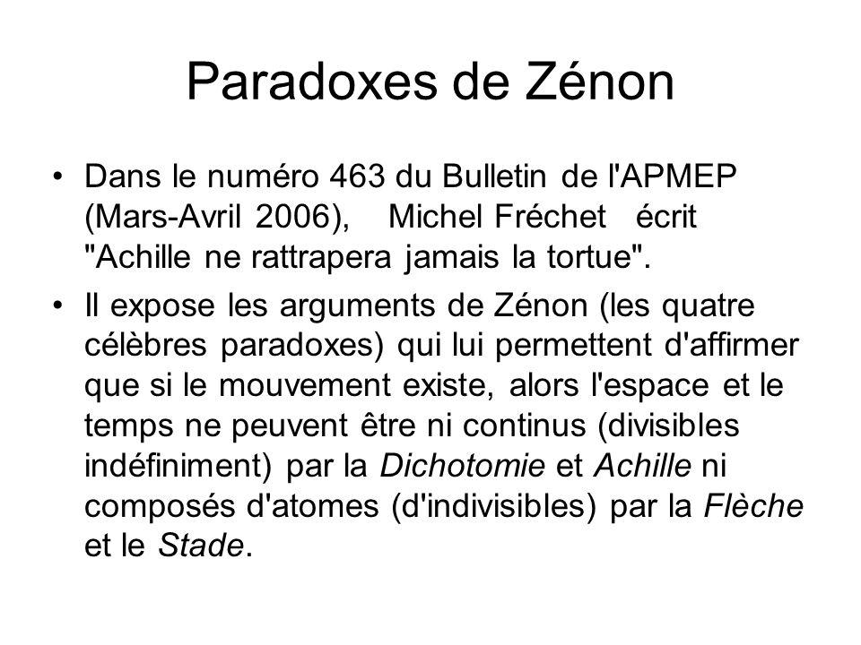 Paradoxes de Zénon