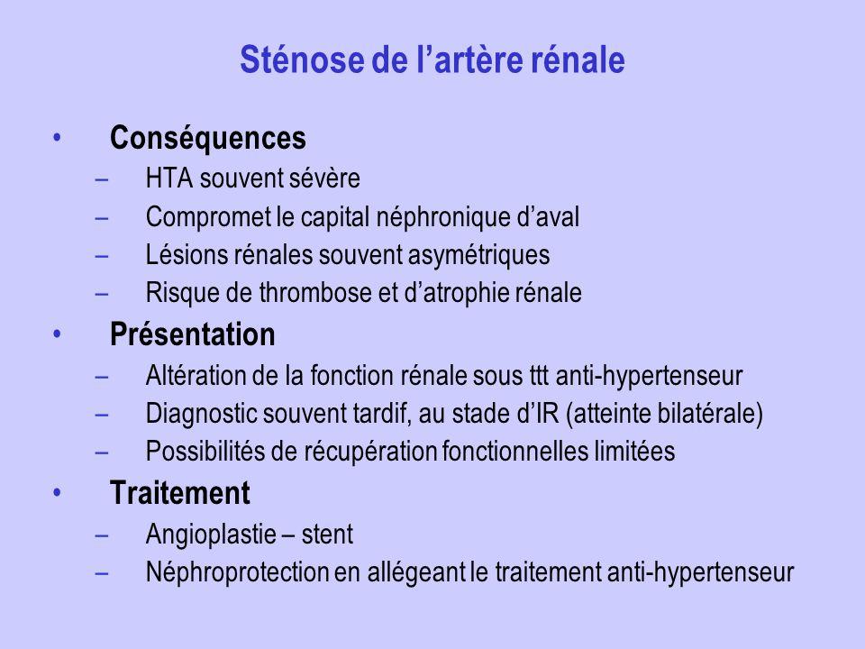 Sténose de l'artère rénale
