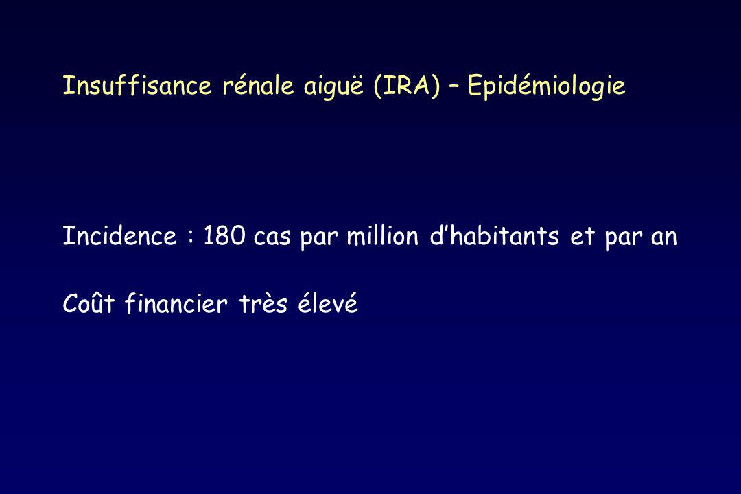 Insuffisance rénale aiguë (IRA) – Epidémiologie