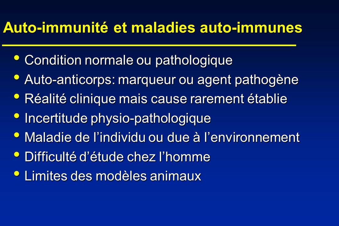 Auto-immunité et maladies auto-immunes