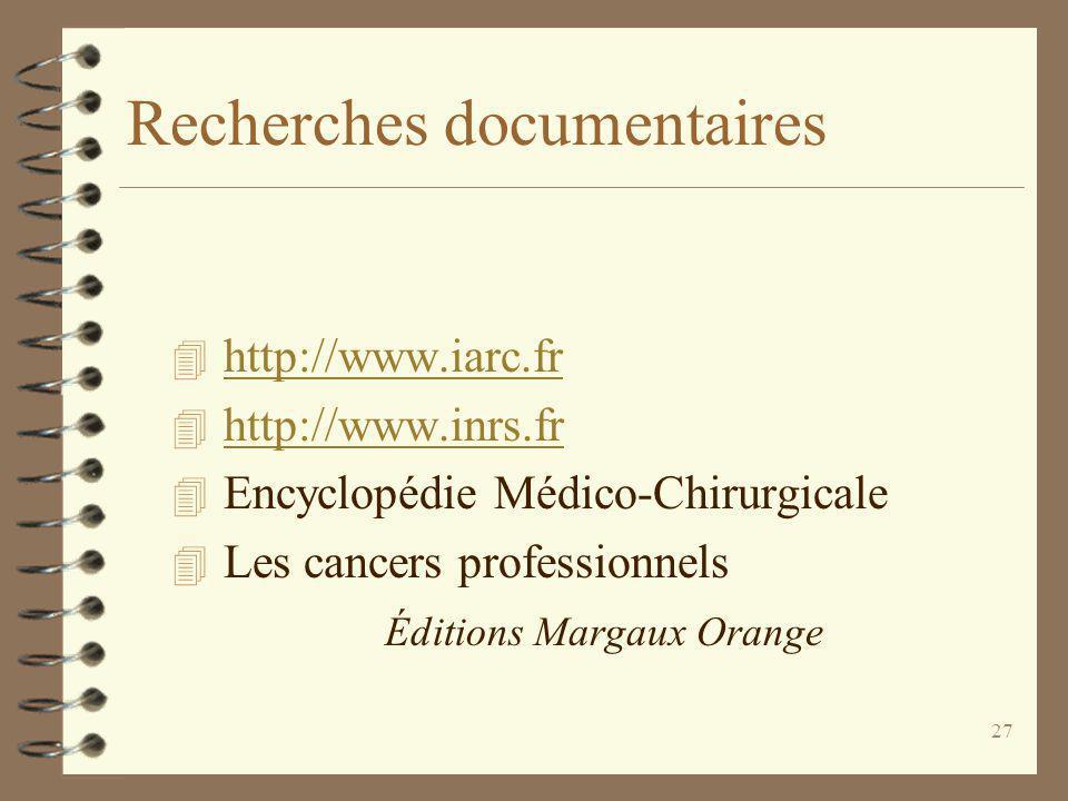 Recherches documentaires