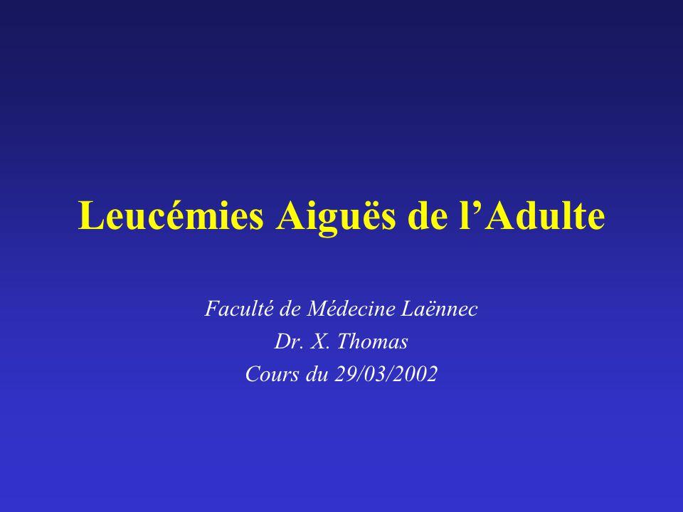 Leucémies Aiguës de l'Adulte