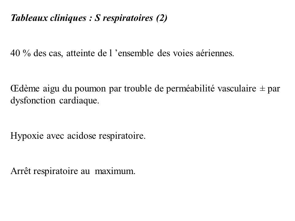 Tableaux cliniques : S respiratoires (2)