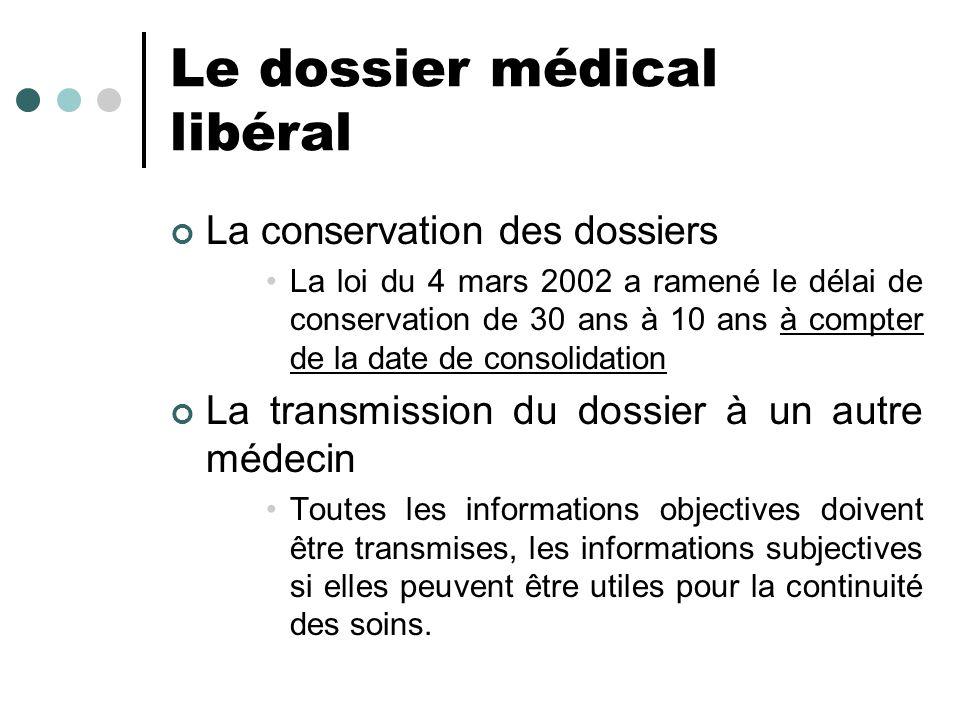 Le dossier médical libéral