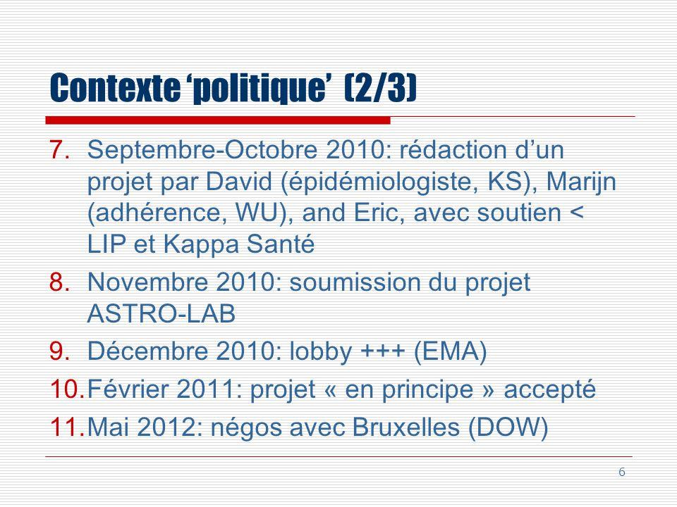 Contexte 'politique' (2/3)