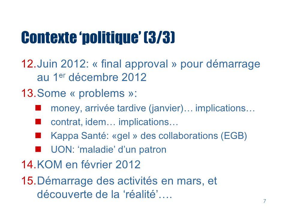 Contexte 'politique' (3/3)