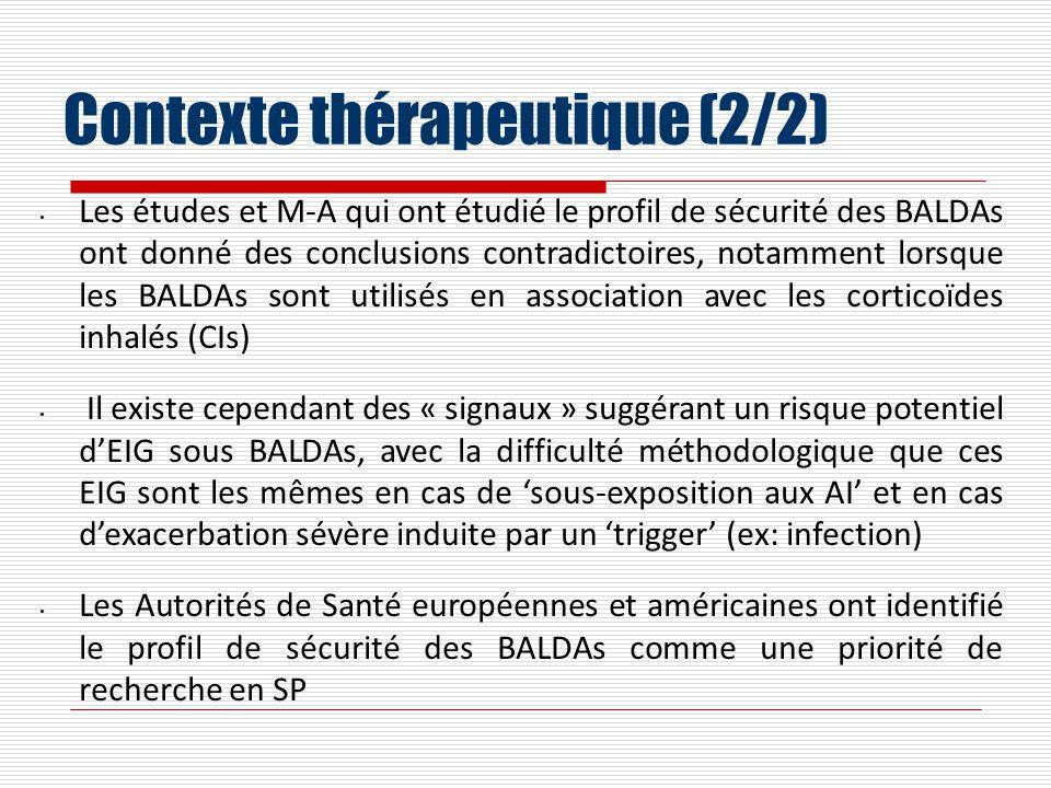 Contexte thérapeutique (2/2)