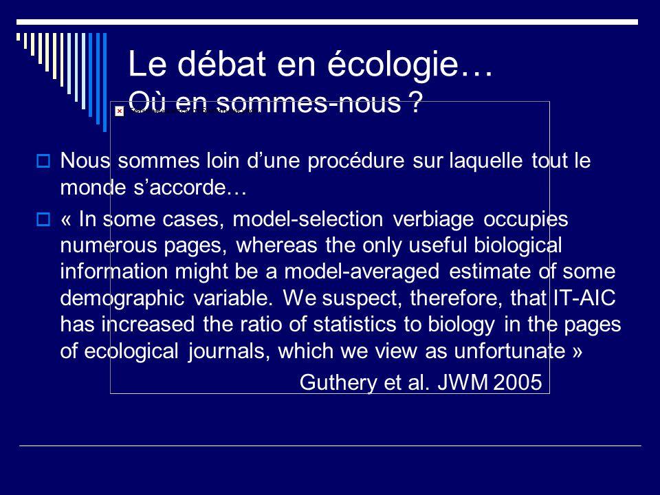 Le débat en écologie… Où en sommes-nous