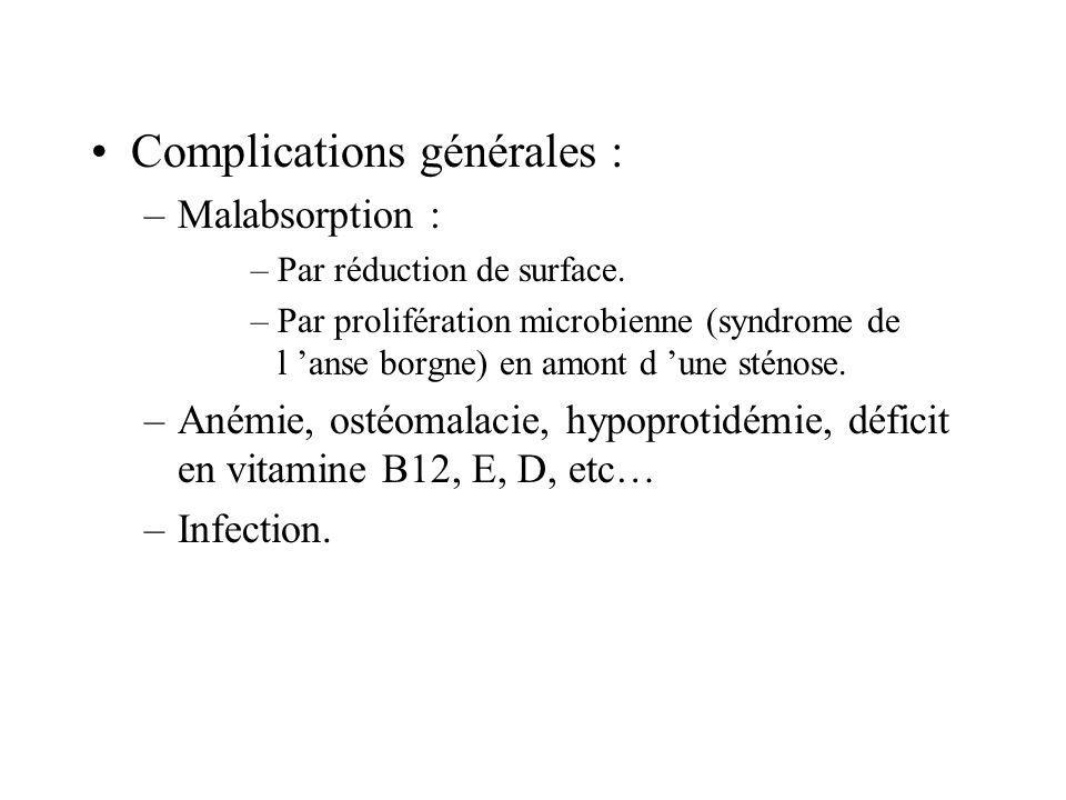 Complications générales :