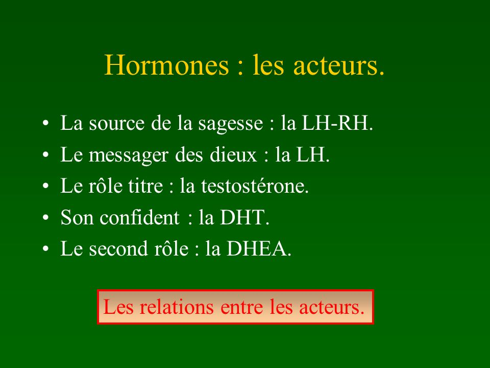 Hormones : les acteurs. La source de la sagesse : la LH-RH.