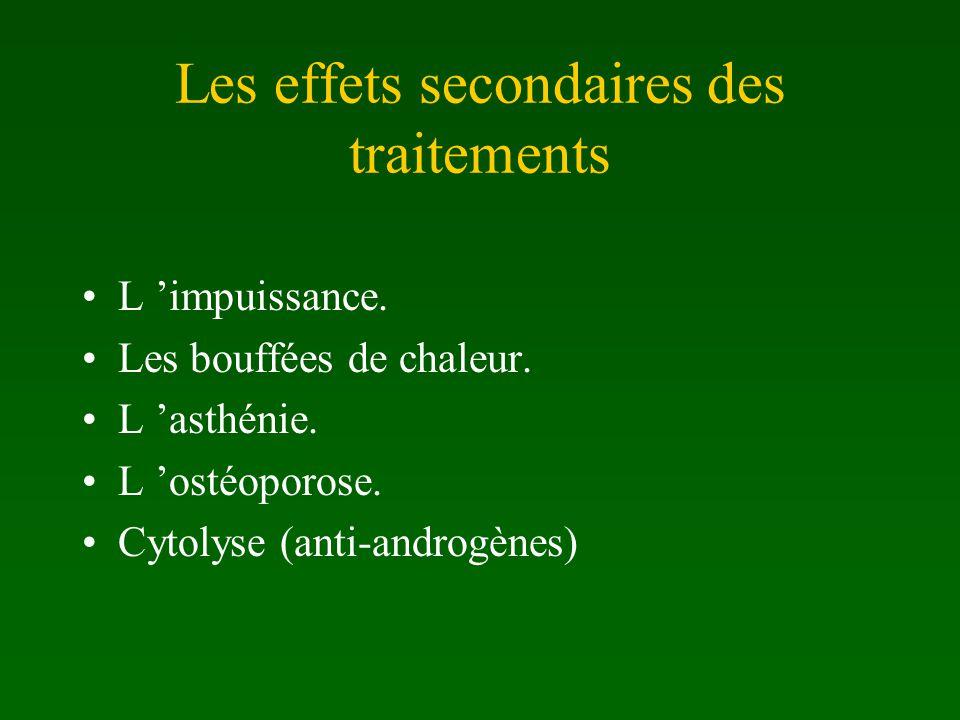 Les effets secondaires des traitements