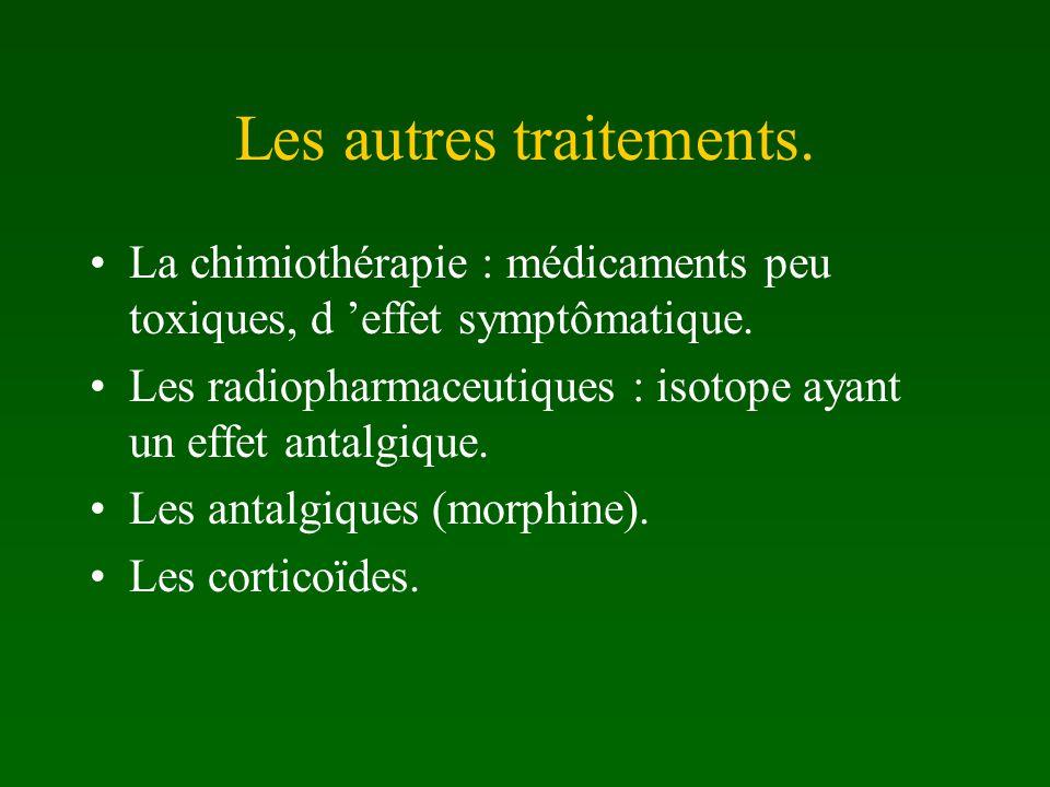 Les autres traitements.