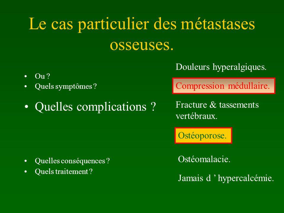Le cas particulier des métastases osseuses.