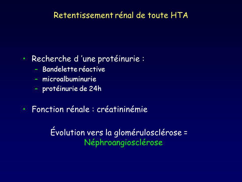 Retentissement rénal de toute HTA