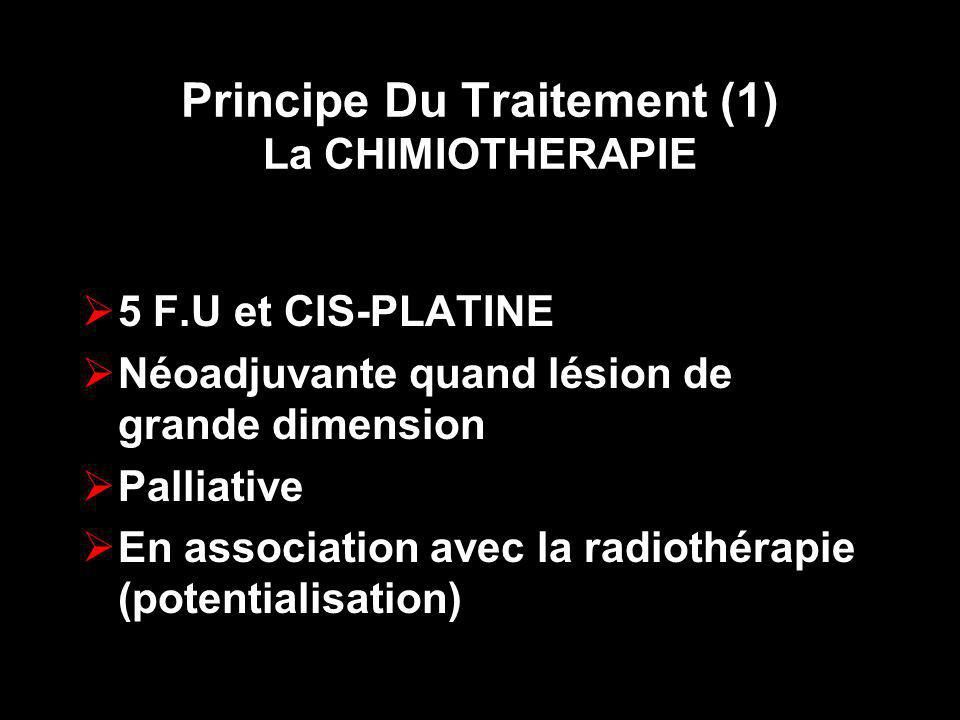 Principe Du Traitement (1) La CHIMIOTHERAPIE