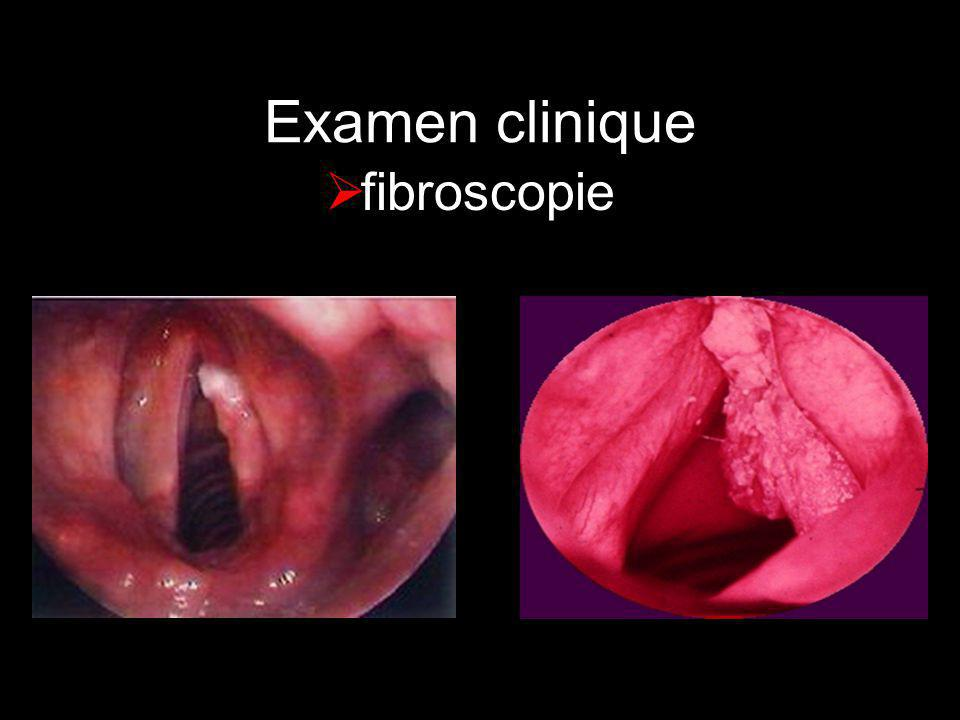 Examen clinique fibroscopie