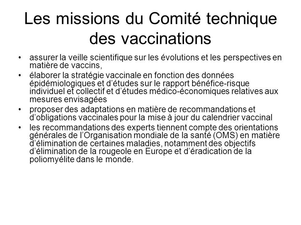 Les missions du Comité technique des vaccinations