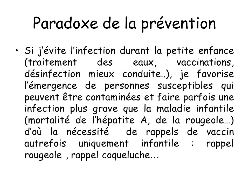 Paradoxe de la prévention