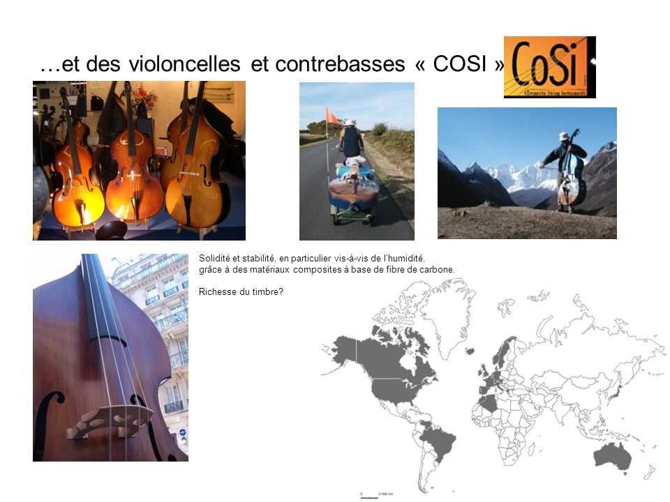 …et des violoncelles et contrebasses « COSI »