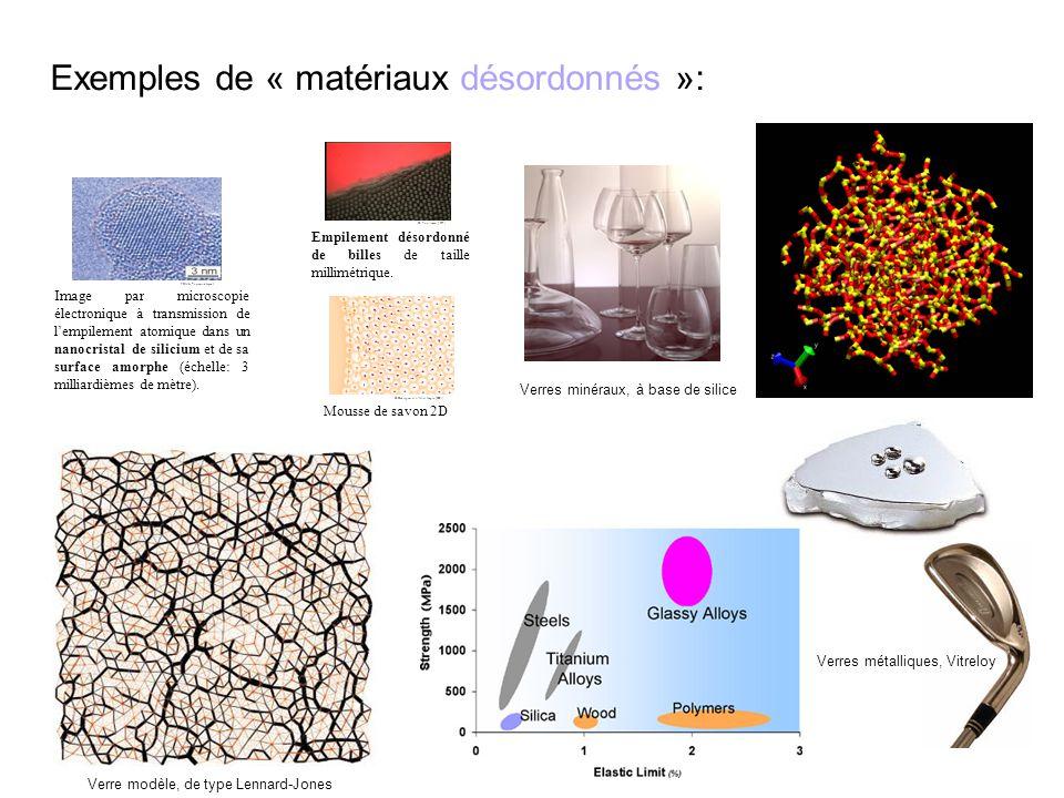 Exemples de « matériaux désordonnés »: