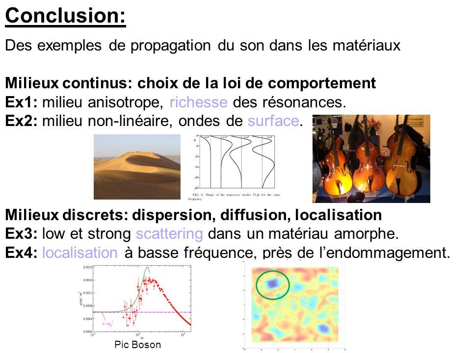Conclusion: Des exemples de propagation du son dans les matériaux