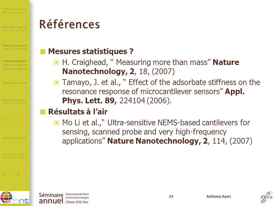 Références Mesures statistiques