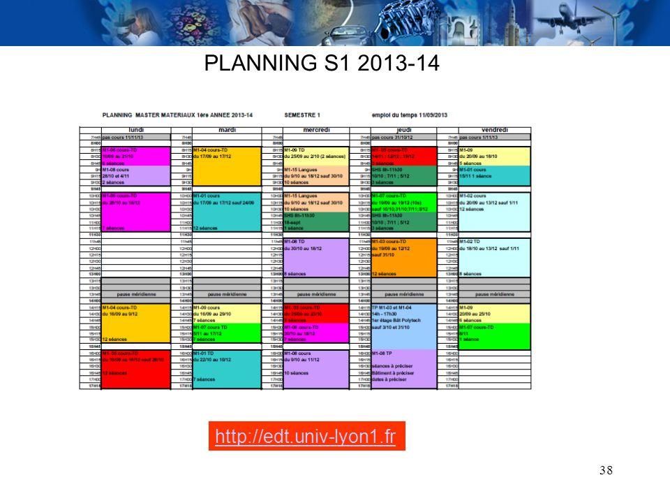 PLANNING S1 2013-14 http://edt.univ-lyon1.fr