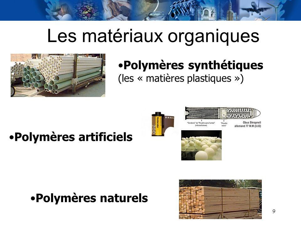 Les matériaux organiques