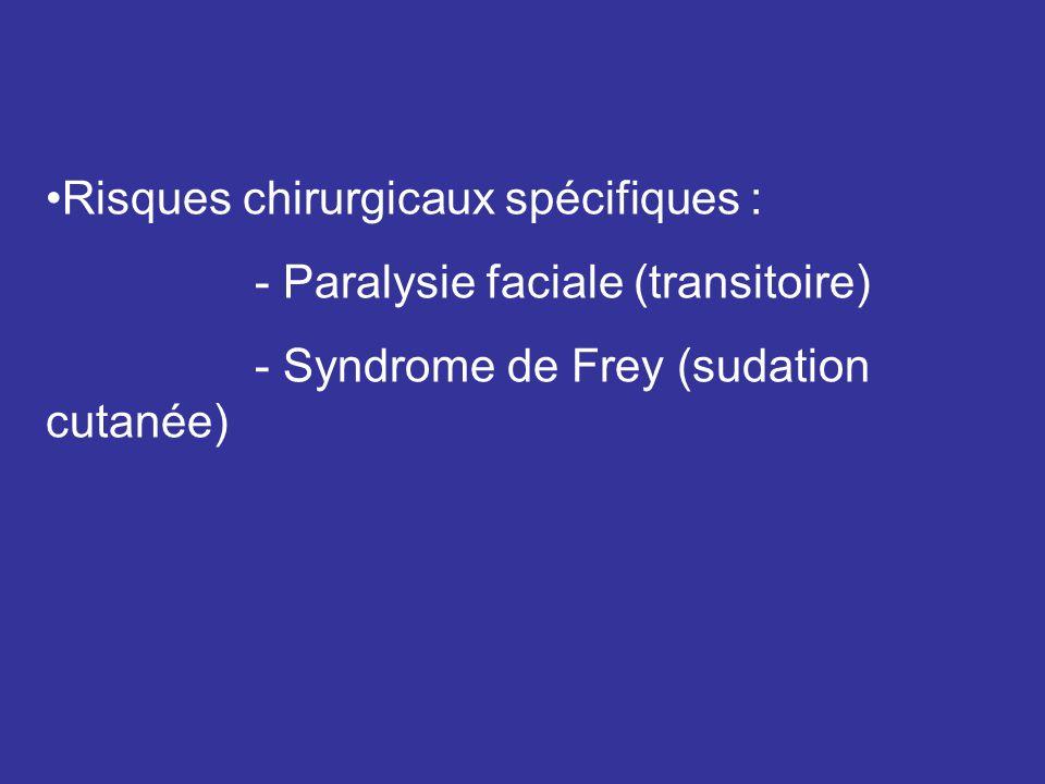 Risques chirurgicaux spécifiques :