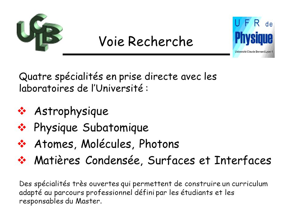 Voie Recherche Astrophysique Physique Subatomique