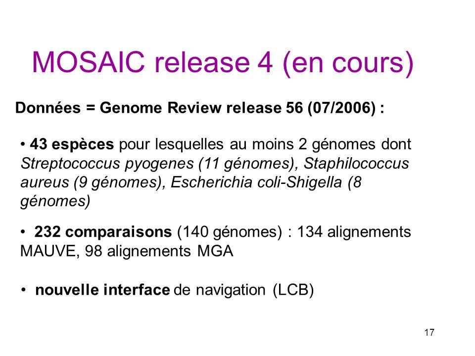 MOSAIC release 4 (en cours)