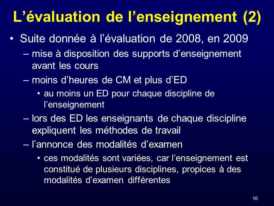 L'évaluation de l'enseignement (2)
