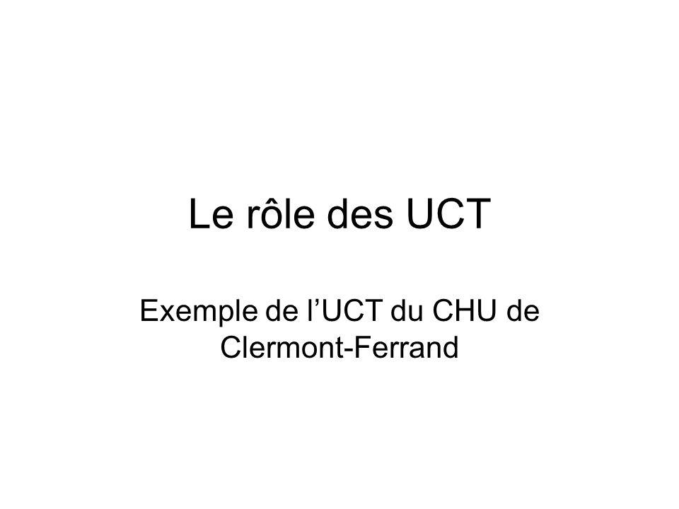 Exemple de l'UCT du CHU de Clermont-Ferrand