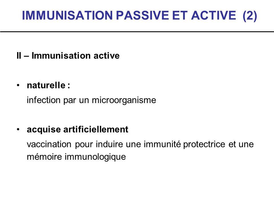 IMMUNISATION PASSIVE ET ACTIVE (2)