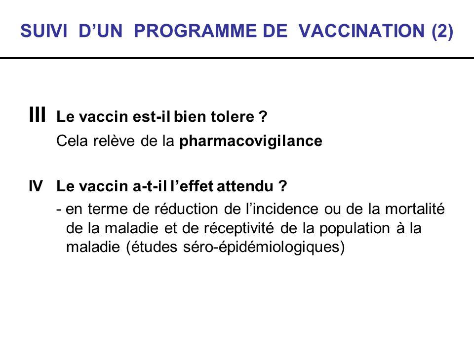 SUIVI D'UN PROGRAMME DE VACCINATION (2)